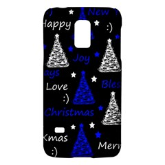 New Year Pattern   Blue Galaxy S5 Mini by Valentinaart