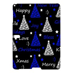 New Year Pattern   Blue Samsung Galaxy Tab S (10 5 ) Hardshell Case  by Valentinaart