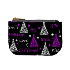 New Year Pattern   Purple Mini Coin Purses