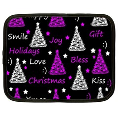 New Year Pattern   Purple Netbook Case (xxl)  by Valentinaart