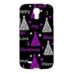 New Year Pattern   Purple Samsung Galaxy S4 I9500/i9505 Hardshell Case by Valentinaart