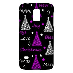 New Year Pattern   Purple Galaxy S5 Mini by Valentinaart