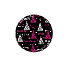 New Year Pattern   Magenta Hat Clip Ball Marker (4 Pack) by Valentinaart