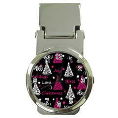 New Year Pattern   Magenta Money Clip Watches by Valentinaart