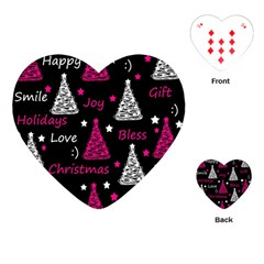 New Year Pattern   Magenta Playing Cards (heart)  by Valentinaart