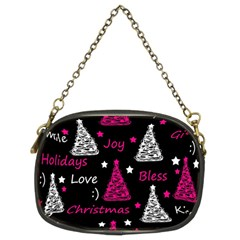 New Year Pattern   Magenta Chain Purses (two Sides)  by Valentinaart
