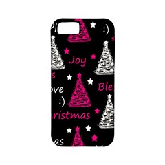 New Year Pattern   Magenta Apple Iphone 5 Classic Hardshell Case (pc+silicone) by Valentinaart