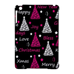 New Year Pattern   Magenta Apple Ipad Mini Hardshell Case (compatible With Smart Cover) by Valentinaart
