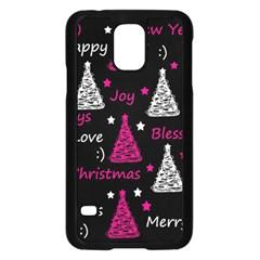 New Year Pattern   Magenta Samsung Galaxy S5 Case (black) by Valentinaart
