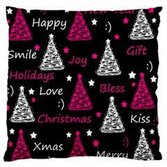 New Year pattern - magenta Standard Flano Cushion Case (Two Sides) by Valentinaart