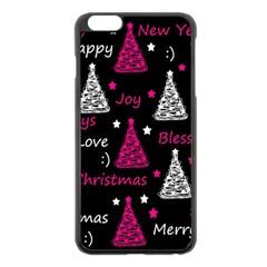 New Year Pattern   Magenta Apple Iphone 6 Plus/6s Plus Black Enamel Case by Valentinaart