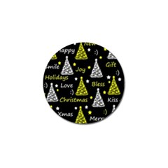 New Year Pattern   Yellow Golf Ball Marker (4 Pack) by Valentinaart
