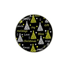 New Year Pattern   Yellow Hat Clip Ball Marker by Valentinaart