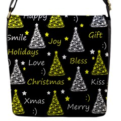 New Year Pattern   Yellow Flap Messenger Bag (s) by Valentinaart