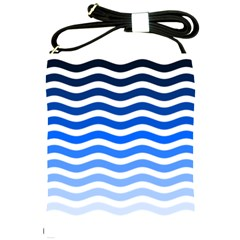 Water White Blue Line Shoulder Sling Bags by AnjaniArt