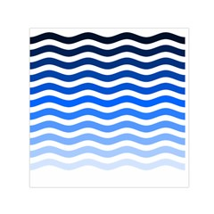 Water White Blue Line Small Satin Scarf (square) by AnjaniArt