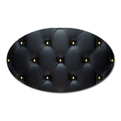 Black Skin Oval Magnet