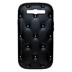 Black Skin Samsung Galaxy S III Hardshell Case (PC+Silicone) by AnjaniArt