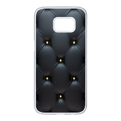 Black Skin Samsung Galaxy S7 Edge White Seamless Case by AnjaniArt
