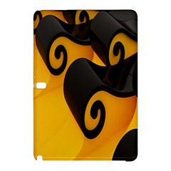 Black Yellow Samsung Galaxy Tab Pro 12 2 Hardshell Case by AnjaniArt
