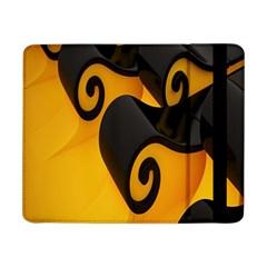 Black Yellow Samsung Galaxy Tab Pro 8 4  Flip Case by AnjaniArt