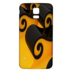 Black Yellow Samsung Galaxy S5 Back Case (white) by AnjaniArt