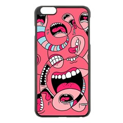 Big Mouth Worm Apple Iphone 6 Plus/6s Plus Black Enamel Case by AnjaniArt