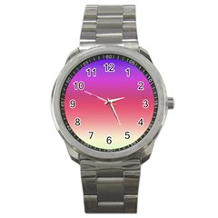 Blue Pink Purple Red Sport Metal Watch by AnjaniArt