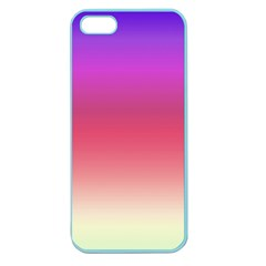 Blue Pink Purple Red Apple Seamless iPhone 5 Case (Color) by AnjaniArt