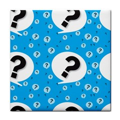 Blue Question Mark Tile Coasters
