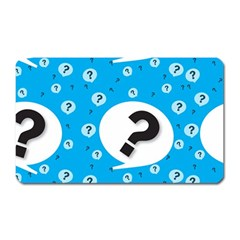 Blue Question Mark Magnet (rectangular) by AnjaniArt