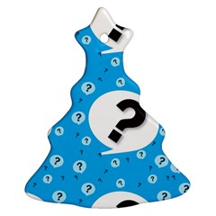 Blue Question Mark Ornament (christmas Tree) by AnjaniArt