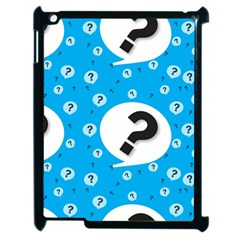 Blue Question Mark Apple Ipad 2 Case (black) by AnjaniArt