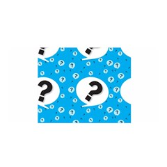 Blue Question Mark Satin Wrap by AnjaniArt