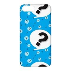 Blue Question Mark Apple Iphone 7 Plus Hardshell Case