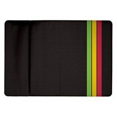 Brown White Stripes Green Yellow Pink Samsung Galaxy Tab 10 1  P7500 Flip Case by AnjaniArt