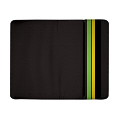 Brown White Stripes Green Yellow Pink Samsung Galaxy Tab Pro 8 4  Flip Case by AnjaniArt