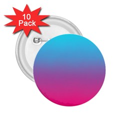 Blue Pink Purple 2.25  Buttons (10 pack)  by AnjaniArt