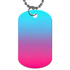 Blue Pink Purple Dog Tag (two Sides) by AnjaniArt