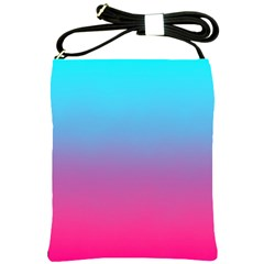 Blue Pink Purple Shoulder Sling Bags by AnjaniArt