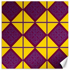Complexion Purple Yellow Canvas 12  X 12   by AnjaniArt