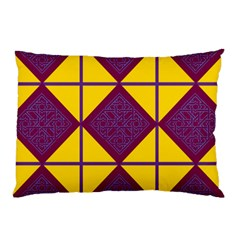 Complexion Purple Yellow Pillow Case (two Sides) by AnjaniArt
