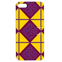 Complexion Purple Yellow Apple Iphone 5 Hardshell Case With Stand by AnjaniArt