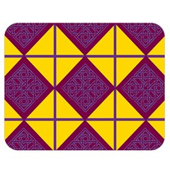 Complexion Purple Yellow Double Sided Flano Blanket (Medium)  by AnjaniArt