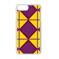 Complexion Purple Yellow Apple iPhone 7 Plus White Seamless Case by AnjaniArt