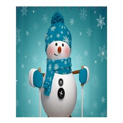 Cute Snowman Shower Curtain 60  X 72  (medium)  by AnjaniArt