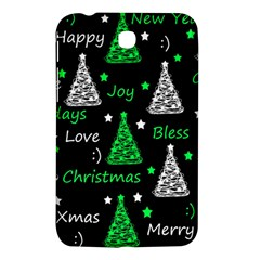 New Year Pattern   Green Samsung Galaxy Tab 3 (7 ) P3200 Hardshell Case  by Valentinaart