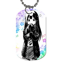 Shy Anime Girl Dog Tag (one Side) by Brittlevirginclothing
