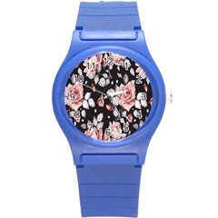Vintage Flower  Round Plastic Sport Watch (s) by Brittlevirginclothing
