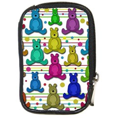 Teddy bear Compact Camera Cases by Valentinaart